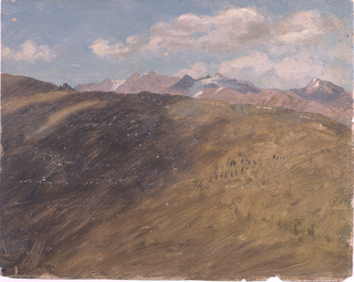 Drawing, Bavarian or Swiss Alps, 1868