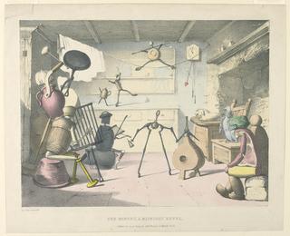 Print, The Minuet, a Midnight Revel, 1828