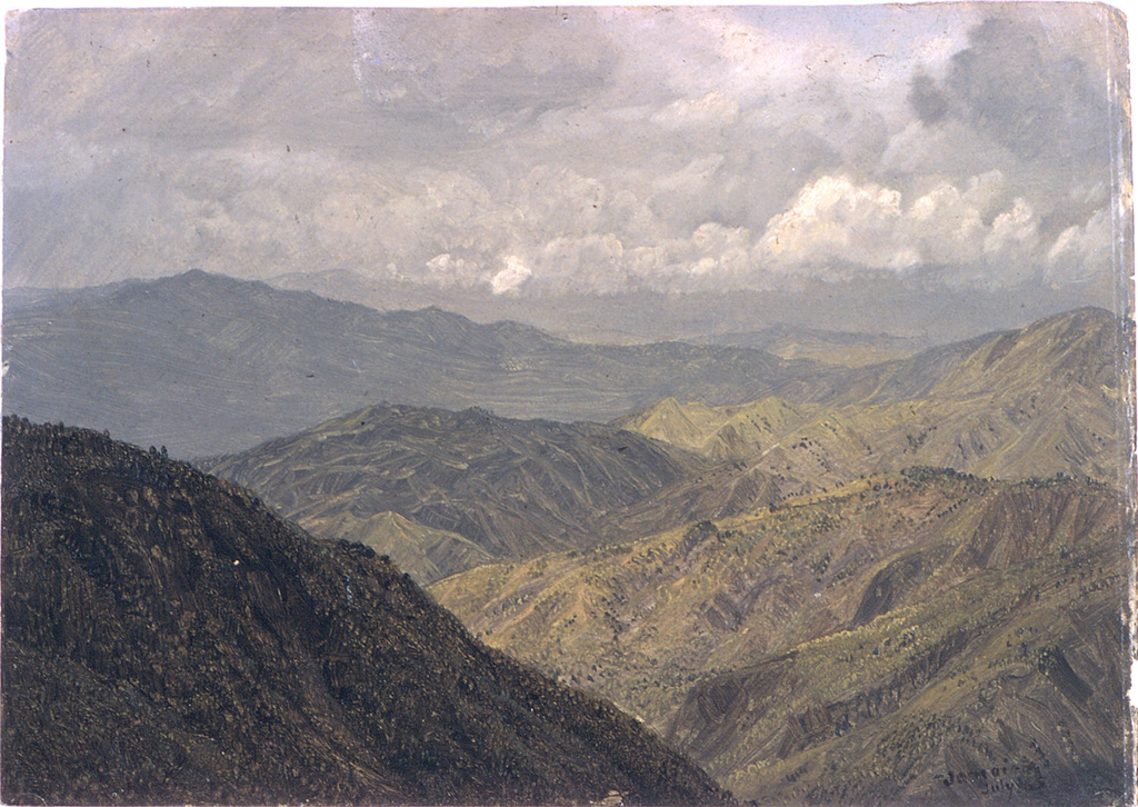 Drawing, Mountainous Landscape, Jamaica, July 1865