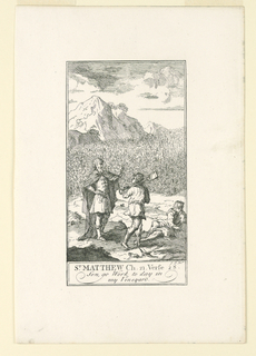 """Print, Son, Go Work Today in My Vineyard, frontispiece to """"The Happy Ascetick"""""""