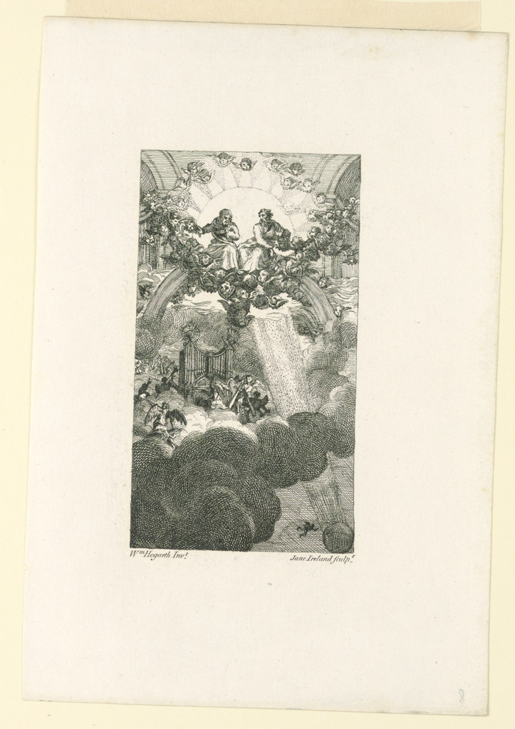 "Print, The Council in Heaven; Illustration to Milton's ""Paradise Lost"" (After Hogarth), ca. 1790"