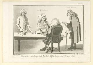 """Print, Plate III, from """"Characters who Frequented Button's Coffeehouse About the Year 1720"""""""