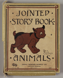 Box, Jointed Story Book Animals, 1929