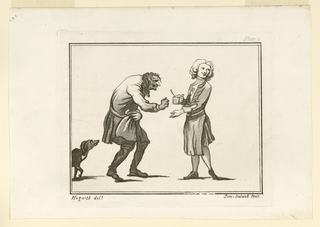 """Print, Plate I, from """"Characters who Frequented Button's Coffeehouse About the Year 1720"""""""