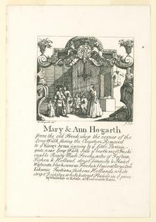 Print, Mary and Ann Hogarth's Shop Card