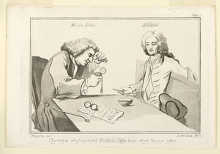 """Print, Plate II, from """"Characters who Frequented Button's Coffeehouse About the Year 1720"""""""