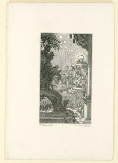 "Print, The Council in Hell. Illustration to Milton's ""Paradise Lost"" (after William Hogarth), ca. 1790"