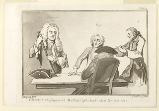 """Print, Plate IV, from from """"Characters who Frequented Button's Coffeehouse About the Year 1720"""""""