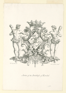 Print, Arms of the Duchess of Kendal