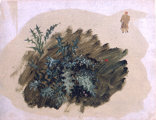 Drawing, Plant studies, 1865