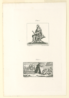 """Print, Plates 1 and 2, Illustrations for """"Roman Military Punishment"""" by John Beaver"""