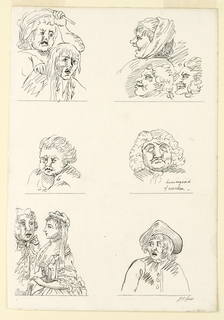 Print, Sketches From Pen and Ink Drawings