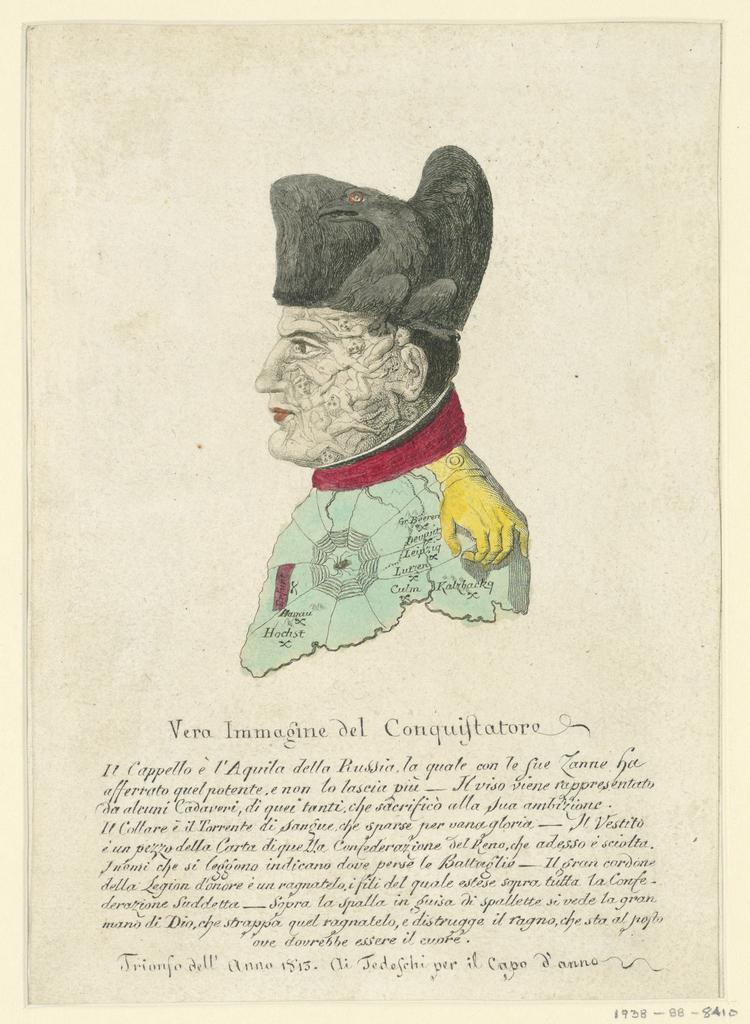 Print, Puzzle Picture of Napoleon, 1813