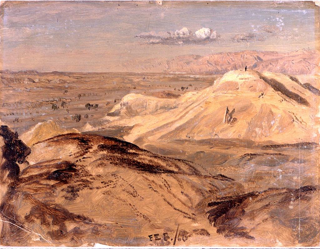 Drawing, Landscape near Petra