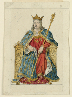 Playing Card, Design for a Playing Card: King of Diamonds