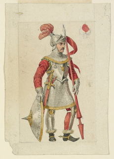 Playing Card, Design for a Playing Card: Valet (or Jack) of Spades