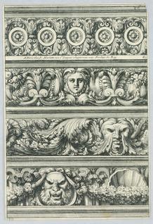 Print, Four Friezes, ca. 1660