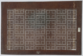 Allover pattern of small asterisks formed into crosses inside squares.