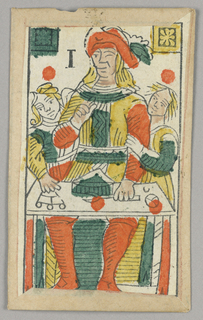 Part of an Italian Minchiate set of playing cards