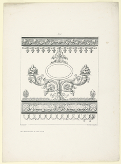 Print, Frieze with Ovoidal Frame