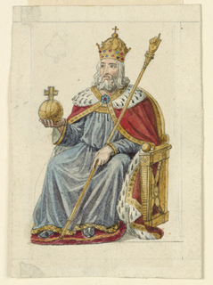 Playing Card, Design for a Playing Card: King of Spades