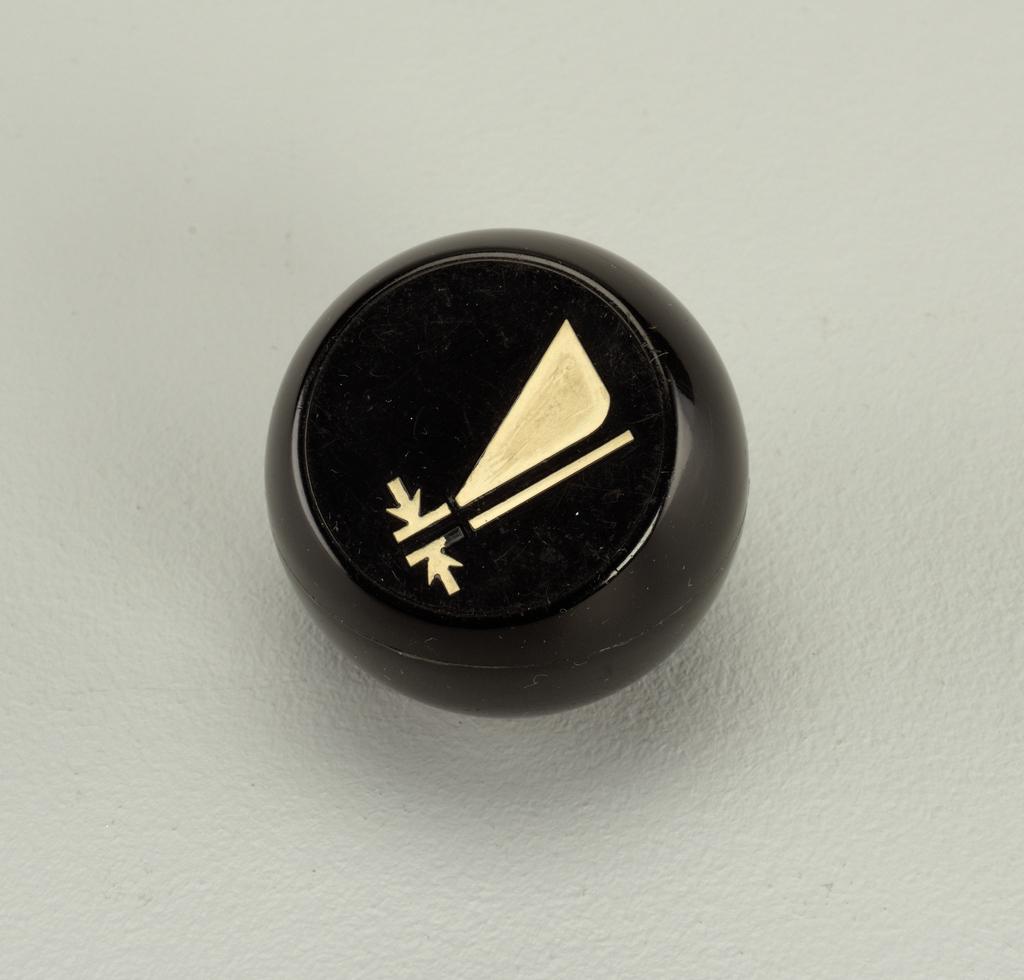 Black with white triangular shape
