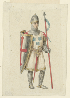 Playing Card, Design for a Playing Card: Valet (or Jack) of Diamonds