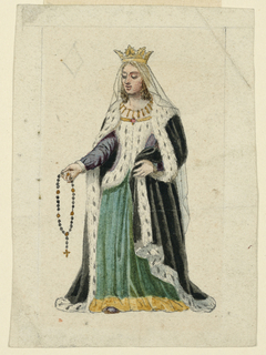 Playing Card, Design for a Playing Card: Queen of Diamonds