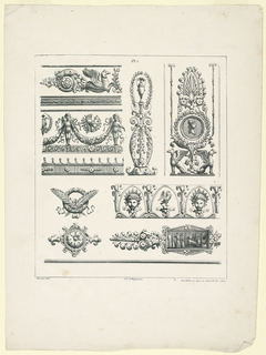 Print, Friezes, Panels and Ornam, 1823