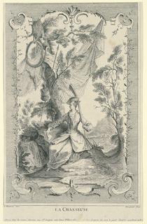 Print, La Chasseuse, ca. 1730