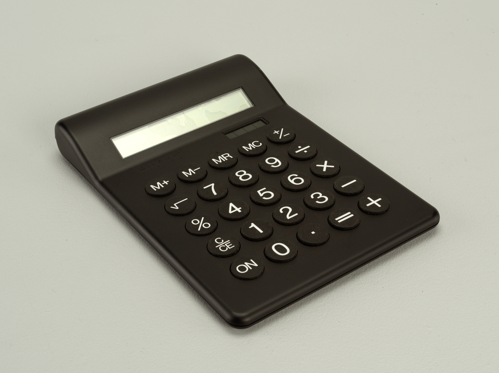 Deluxe Desktop Calculator Calculator, 1987