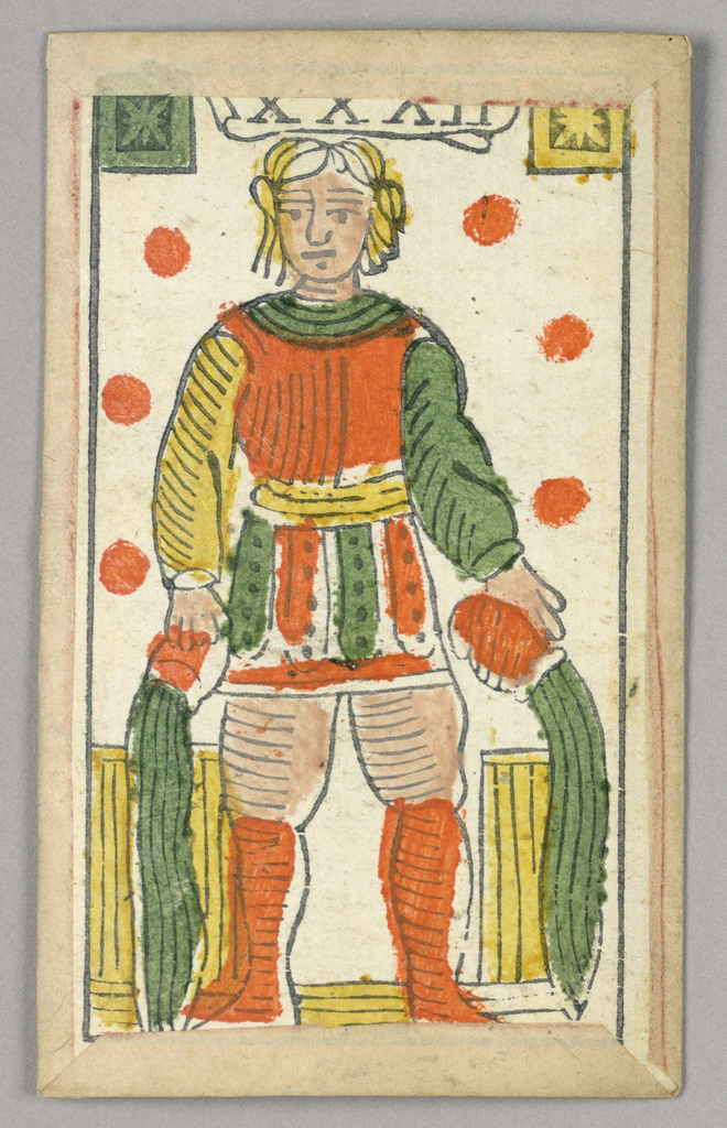Partial set of Italian Minchiate playing cards