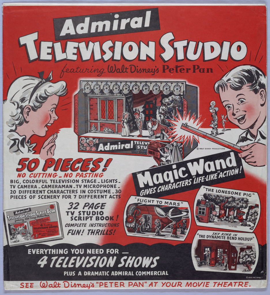 Toy Theater, Admiral Television Studio, Featuring Walt Disney's Peter Pan