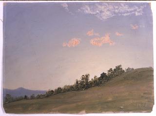 Drawing, Hillside, Hudson, New York, July 1870