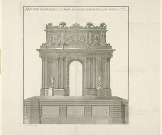 Print, Garden Pavilion in the Corinthian Order