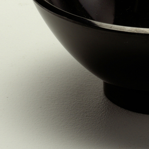 Black dessert bowl.