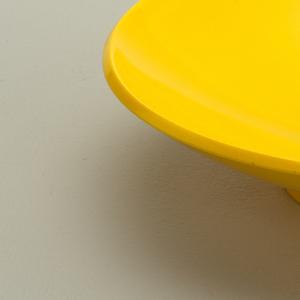 Yellow soup bowl.