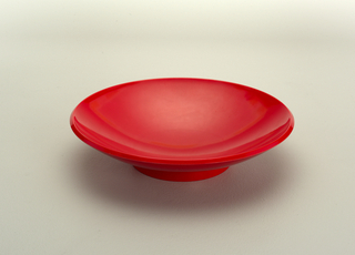 Red soup bowl.