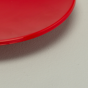 Red salad plate.