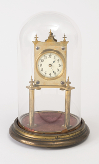 Clock And Belljar (possibly Germany), early 20th century