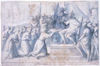 Drawing, Turkish Ambassador Presenting Gift to Don Giovanni of Austria