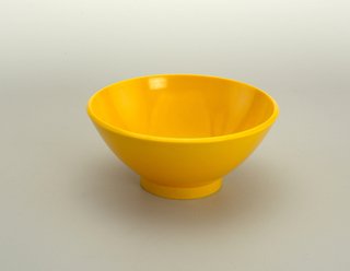 Yellow dessert bowl.
