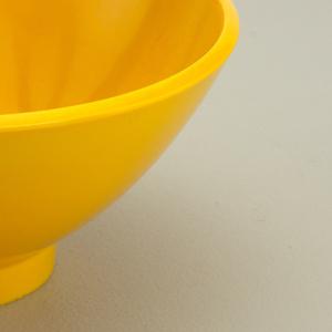 Yellow dessert bowl.