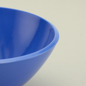 Light blue dessert bowl.