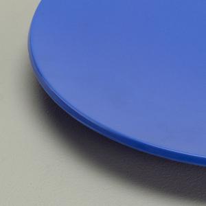 Light blue dinner plate.