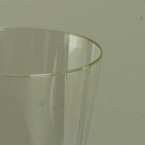 Clear drinking vessel