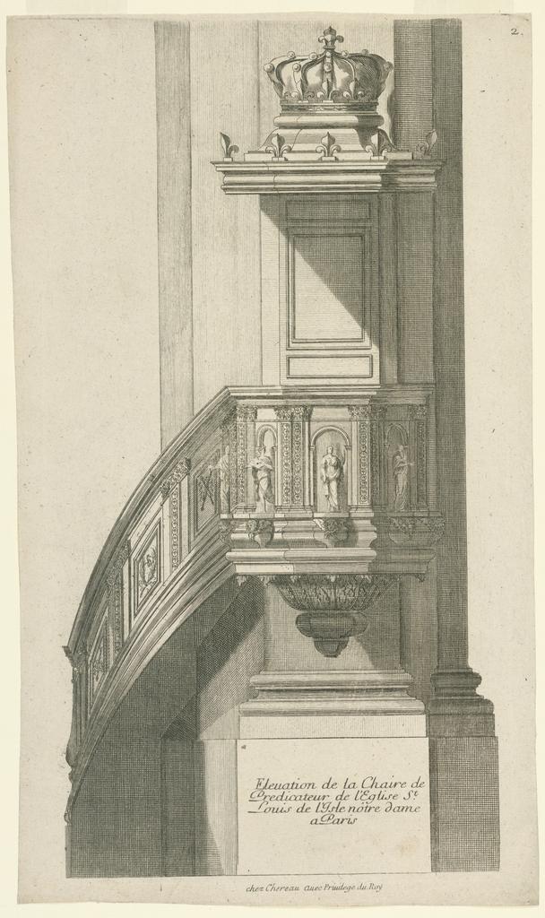 """Print, """"Elevation de la Chaire d"""