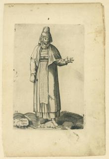 Costume print from the series Diversarum gentium nostrae aetatis habitus after Enea Vico.