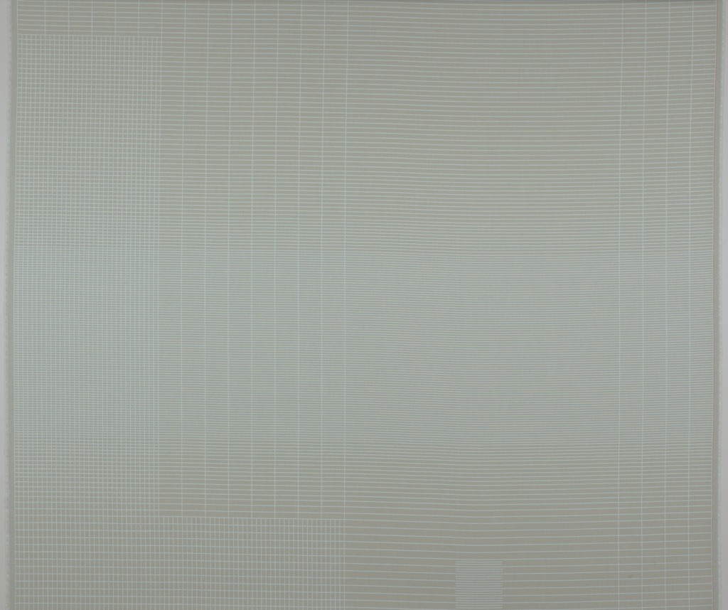 Expansive arrangement of parallel and perpendicular lines in light blue and grey.
