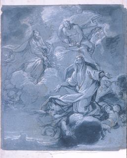 Drawing, Apotheosis of a Female Saint
